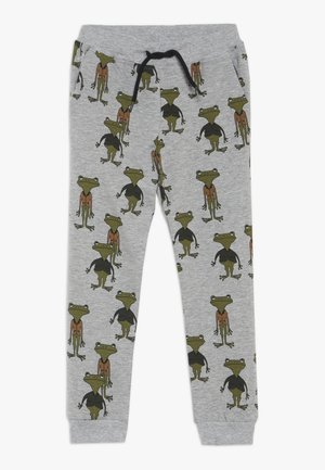 NMMRIOS SLIM PANT - Teplákové kalhoty - grey melange