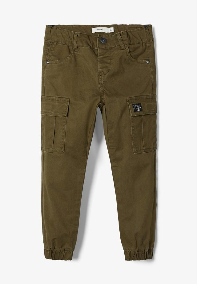 BAGGY FIT - Cargobroek - ivy green