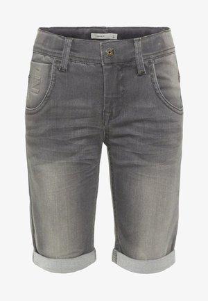 Jeansshort - medium grey denim