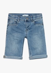 Name it - NKMSOFUS LONG - Szorty jeansowe - light blue denim - 0