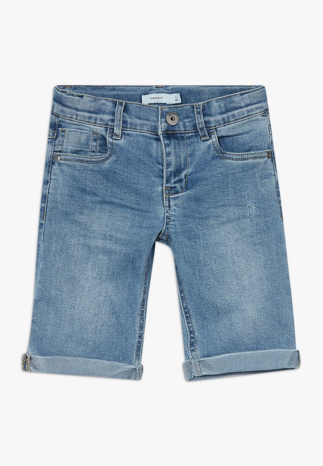 NKMSOFUS LONG - Short en jean - light blue denim