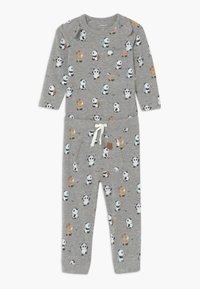 Name it - NBMTIPO  BODY SET - Pantalon classique - grey melange - 0