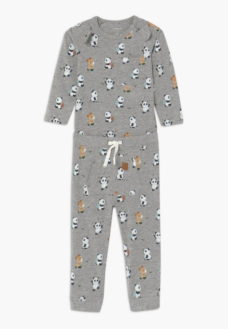 Name it - NBMTIPO  BODY SET - Pantalon classique - grey melange