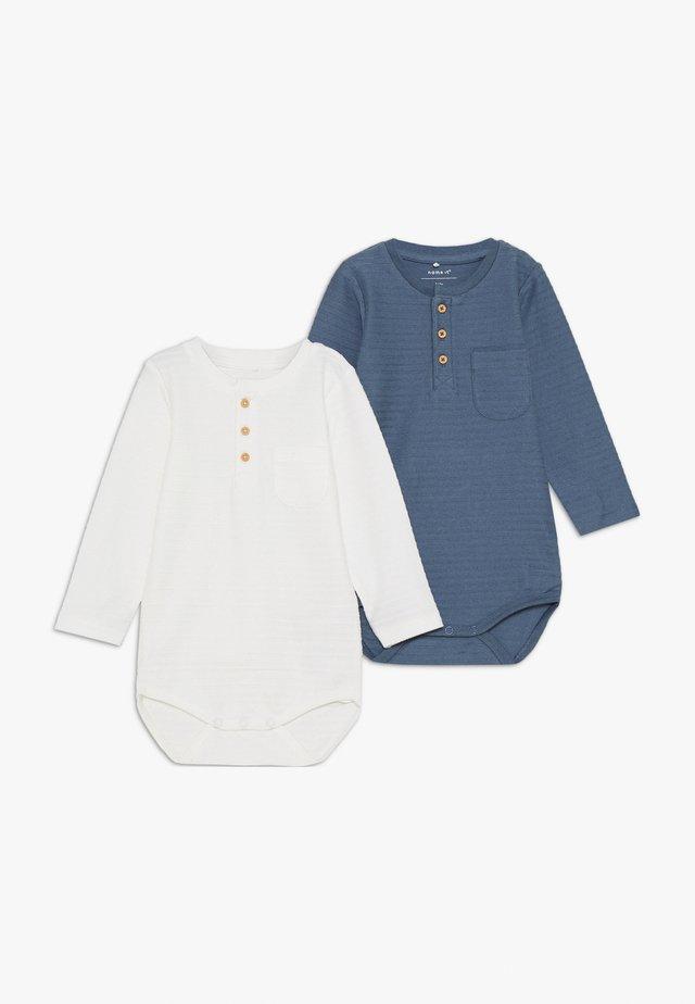 NBMFENGO GRANDAD 2 PACK - Pitkähihainen paita - china blue