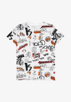 NKMBARANO - T-shirt print - bright white