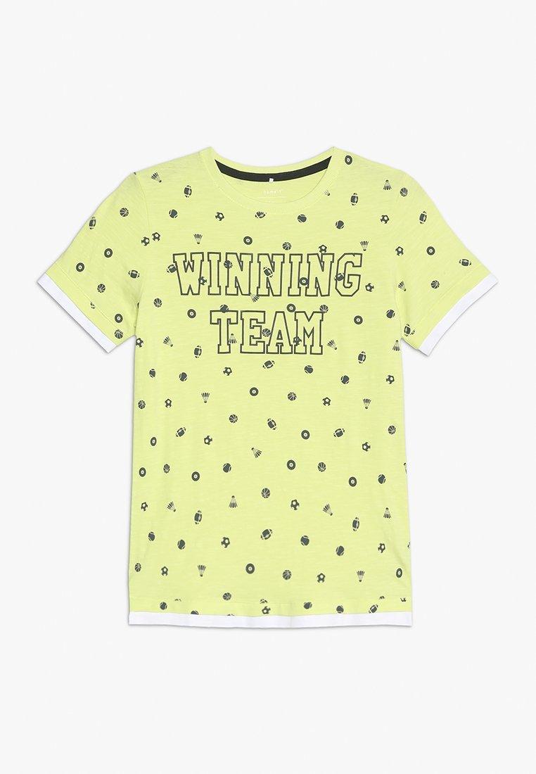 Name it - NKMFELIC - T-shirt z nadrukiem - sunny lime
