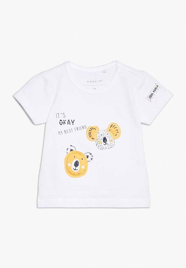 Name it - NBMHENNO TOP BOX - T-shirt imprimé - bright white