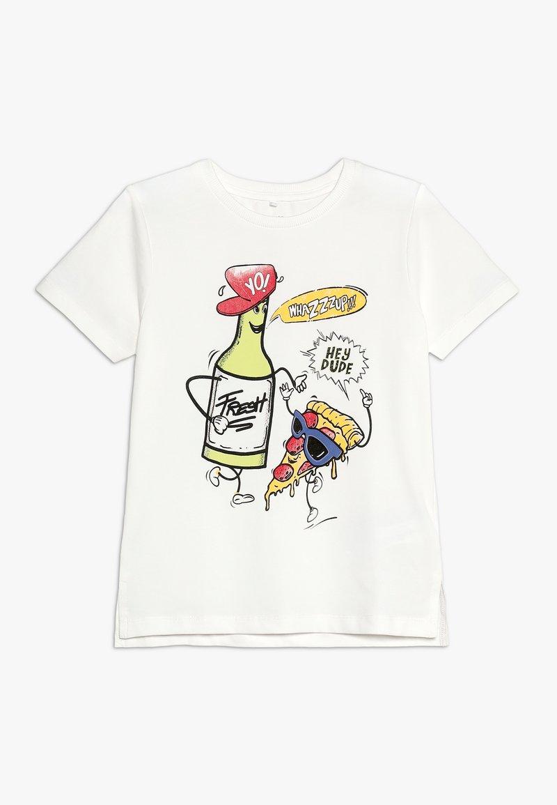 Name it - NMMKIMAL - T-shirt con stampa - snow white