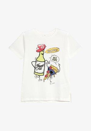 NMMKIMAL - T-shirt med print - snow white
