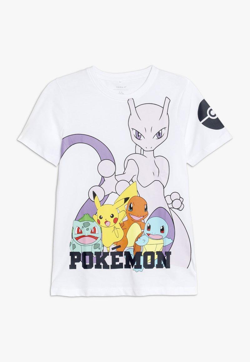 Name it - NKMPOKEMON MINIK  - T-Shirt print - bright white