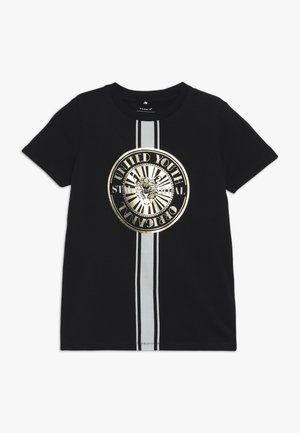 NKMHANSU SLIM  - T-shirt med print - black