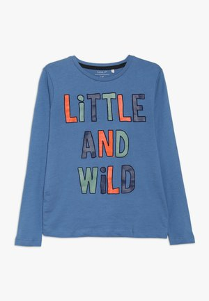 NMMNANTO BOX - Long sleeved top - dutch blue