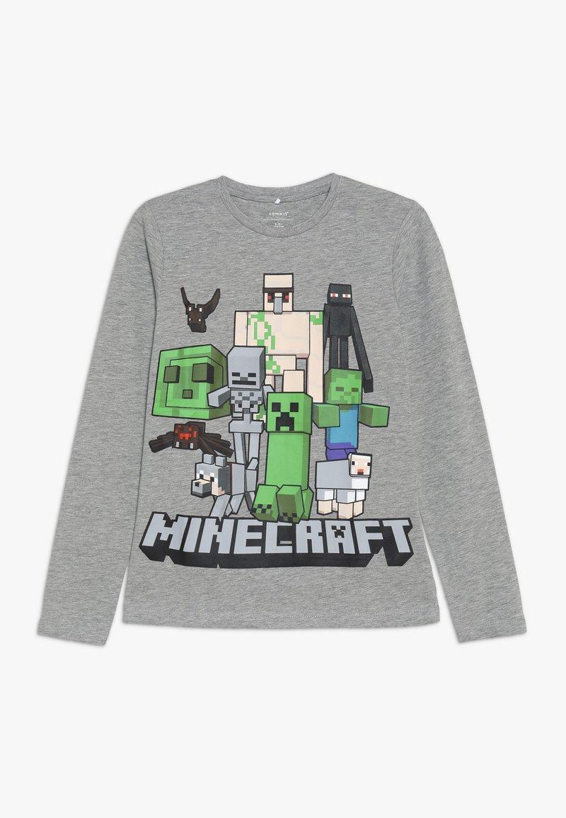 Name it - NKMMINECRAFT ARTHUR - Langærmede T-shirts - grey melange