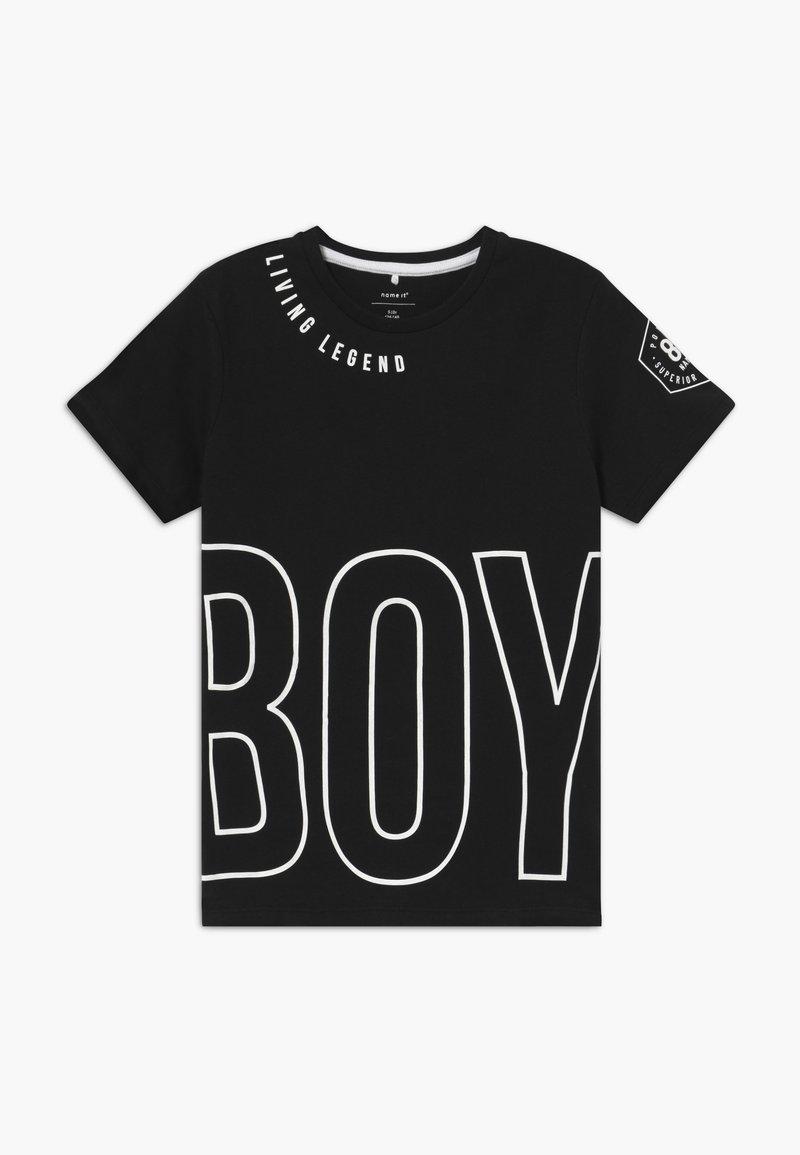 Name it - NKMBONAS - T-shirt med print - black