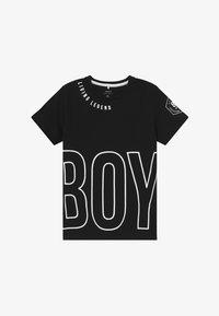 Name it - NKMBONAS - T-shirt med print - black - 2