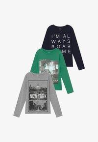 Name it - NKMVAGNO 3 PACK  - Camiseta de manga larga - leprechaun/grey melange - 4