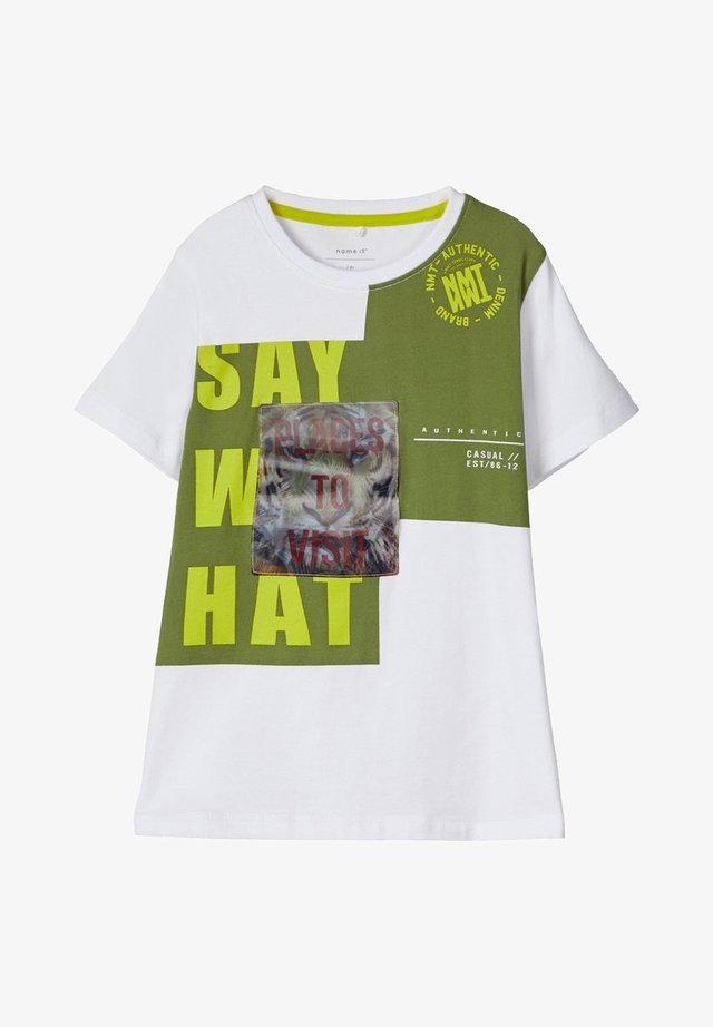 Camiseta estampada - bright white