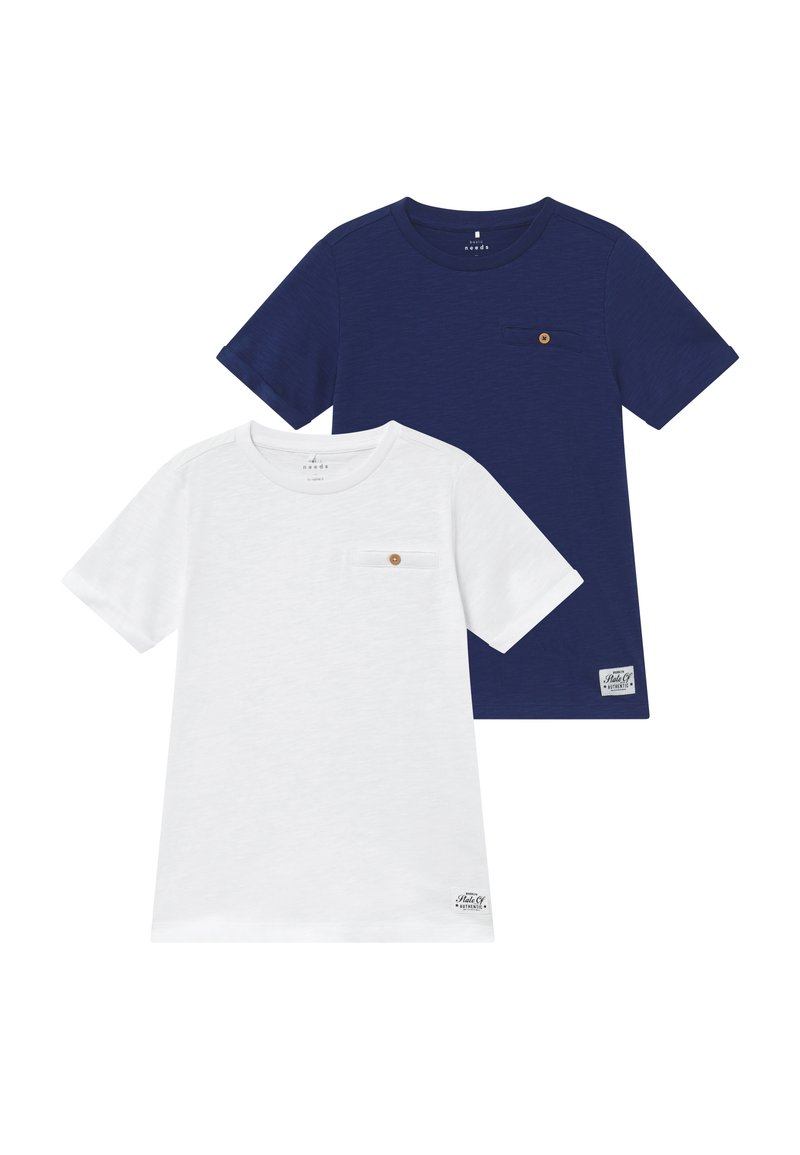 Name it - T-SHIRT 2ER-PACK BAUMWOLL - Basic T-shirt - bright white