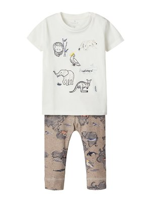 GESCHENK-SET T-SHIRT UND LEGGINGS - Legging - snow white