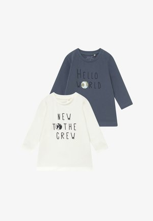 NBMFESTA 2 PACK  - Long sleeved top - china blue