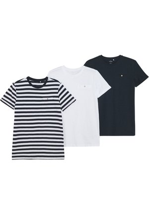 NKMVINCENT 3 PACK - T-Shirt print - bright white