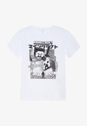 NKMMINECRAFT - T-shirts print - bright white