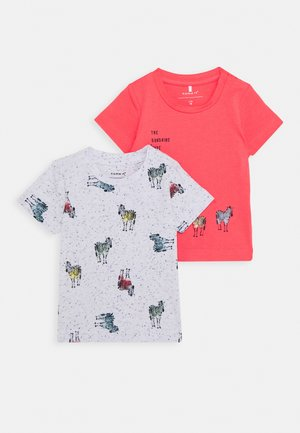 NBMJEFIKO 2 PACK - Print T-shirt - calypso/coral