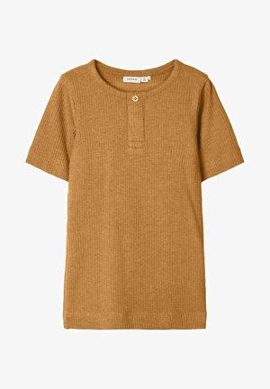 Basic T-shirt - bone brown