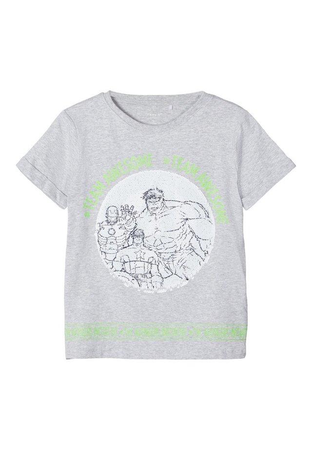 AVENGERS WENDEPAILLETTEN - Camiseta estampada - light grey melange