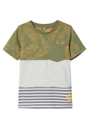 Print T-shirt - loden green