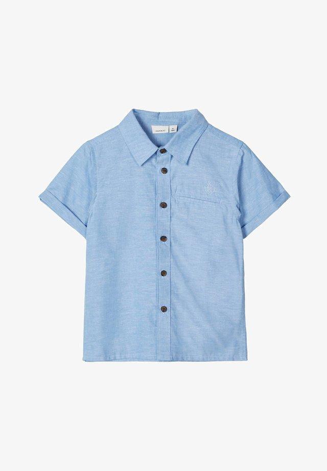 HEMD KURZÄRMELIGES BAUMWOLL - Koszula - sterling blue