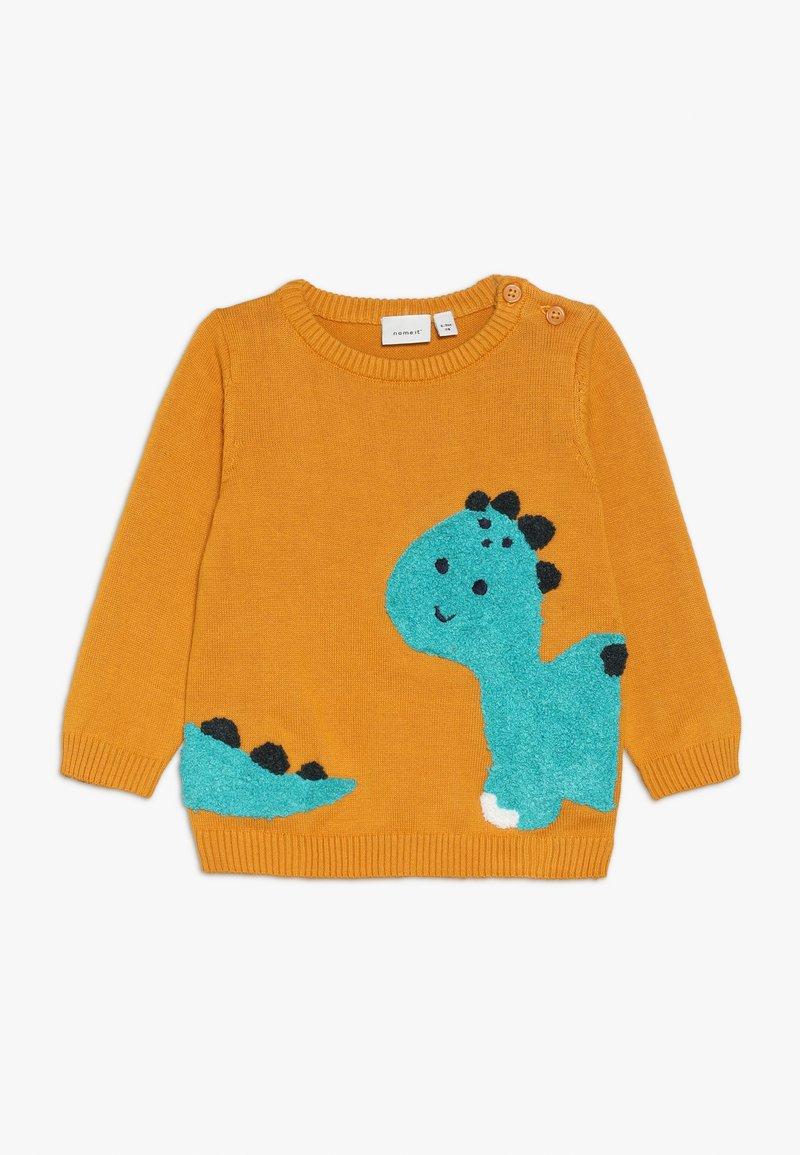 Name it - NBMNADION - Stickad tröja - golden orange