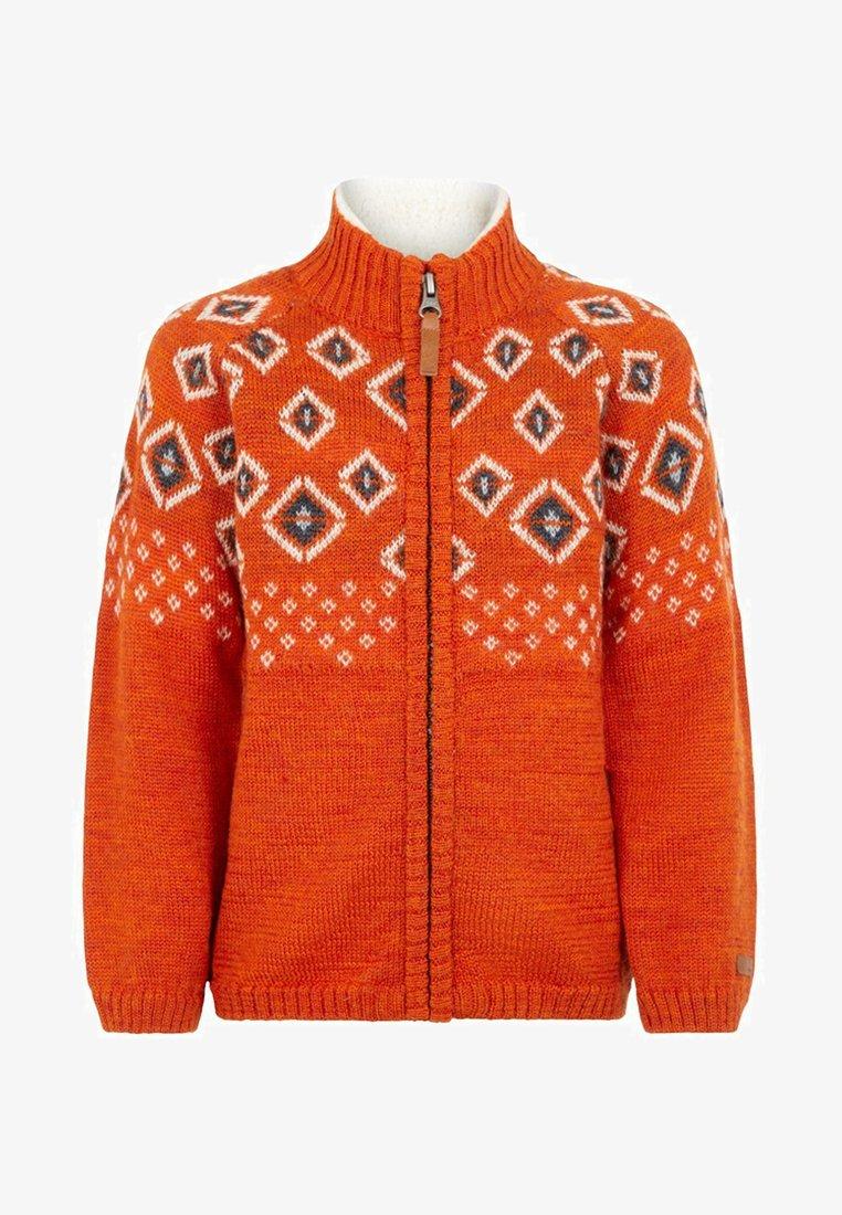 Name it - NMMWRISS - Huvtröja med dragkedja - burnt orange