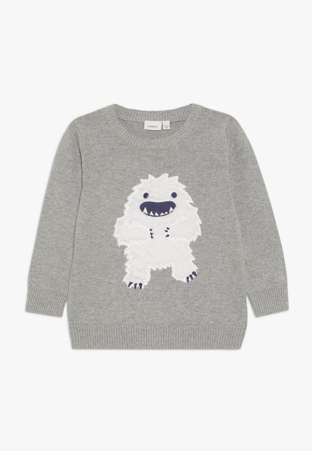 NMMSILOM - Stickad tröja - grey melange