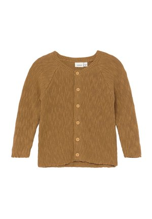 NBMBELLIO CARD - Cardigan - bone brown