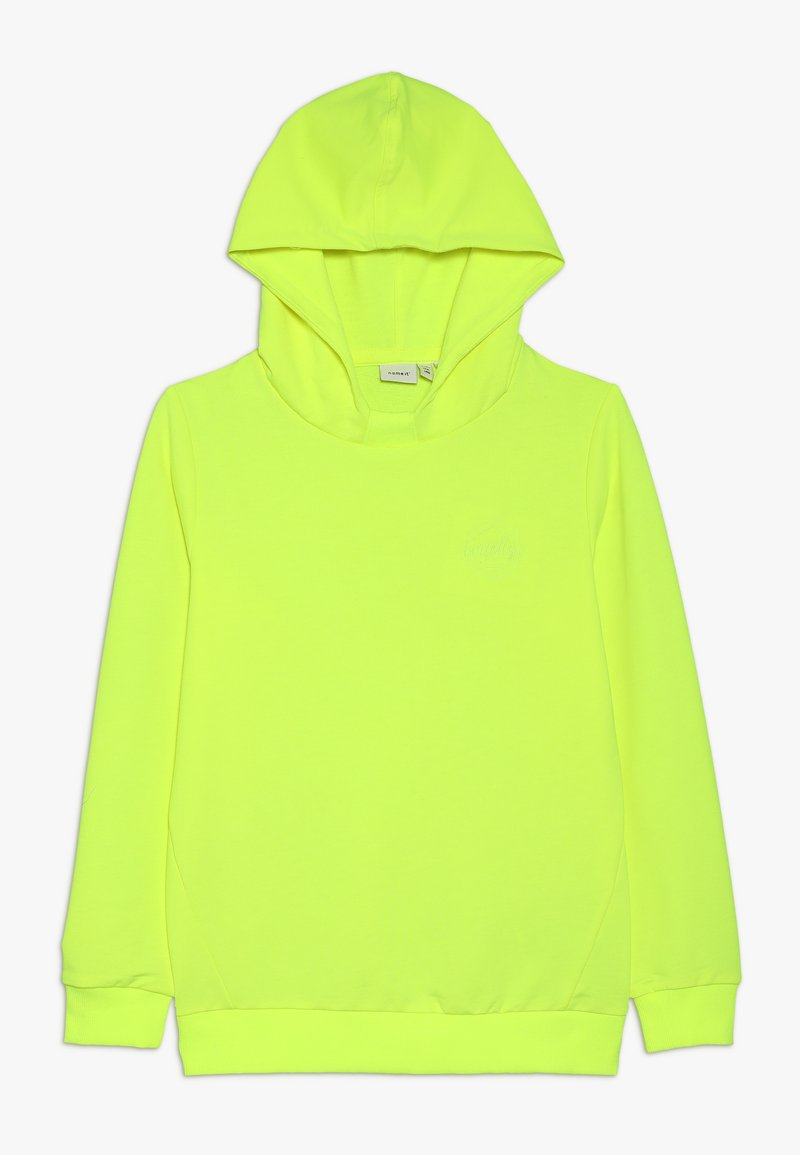 Name it - NKMKAMUKA HOODIE  - Jersey con capucha - safety yellow