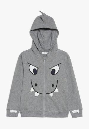 NMMNIDINO - Hoodie met rits - grey melange