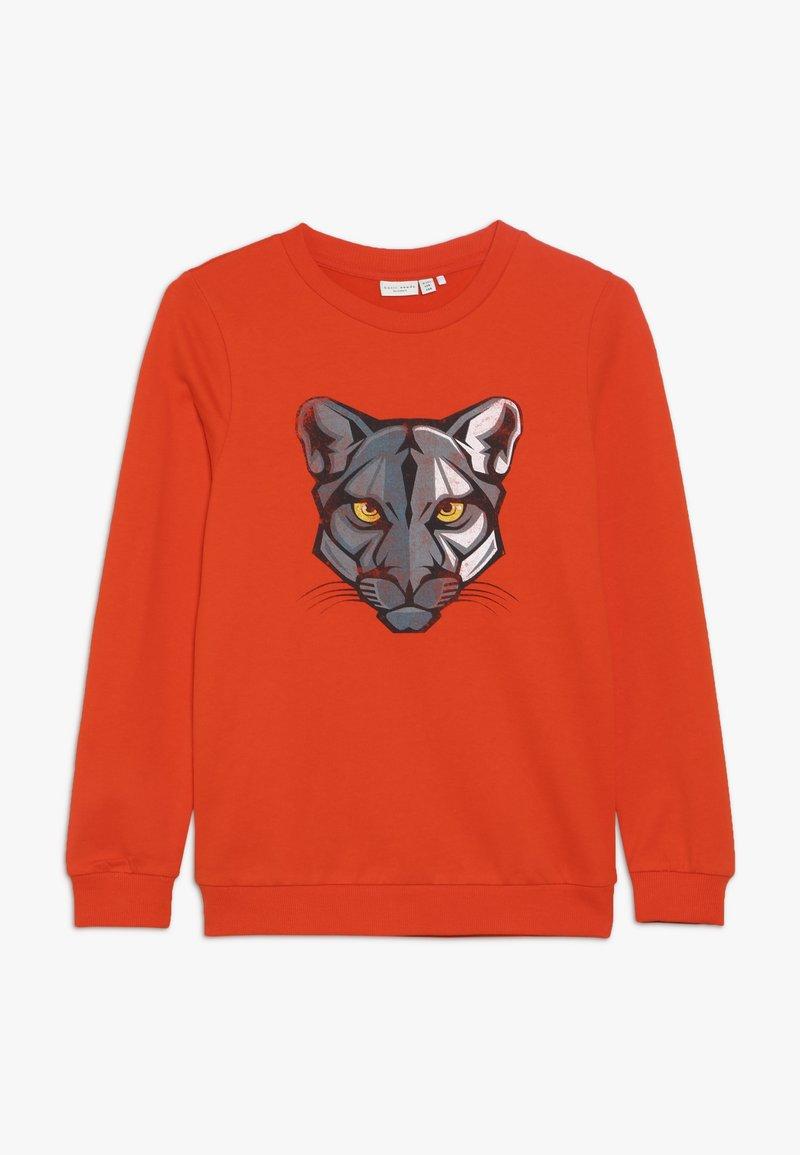 Name it - NKMVILDAR  - Sweater - tangerine tango