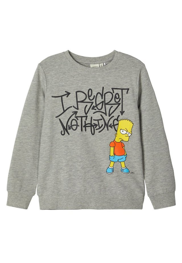 THE SIMPSONS - Collegepaita - grey melange