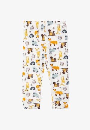 NBMWILLIT LONGJOHN - Leggings - Trousers - snow white