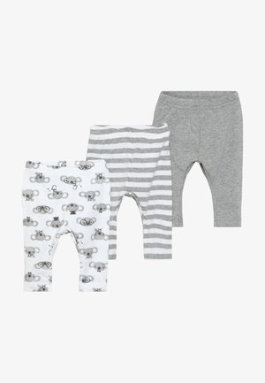 NBNLEGGING BEAR NOOS 3 PACK - Legíny - grey melange