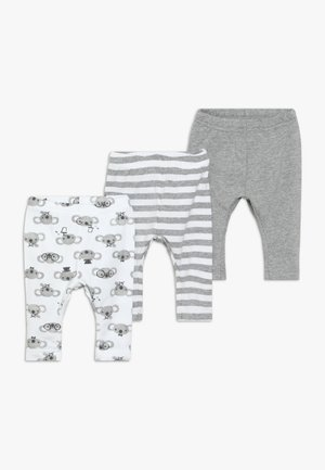 NBNLEGGING BEAR NOOS 3 PACK - Leggingsit - grey melange