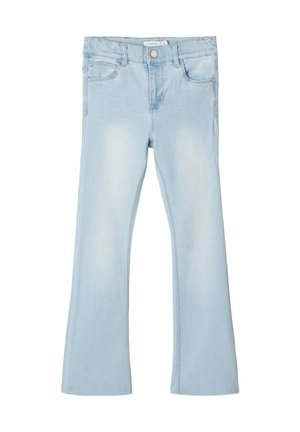 NAME IT BOOTCUT-JEANS HIGH WAIST - Jeans bootcut - light blue denim