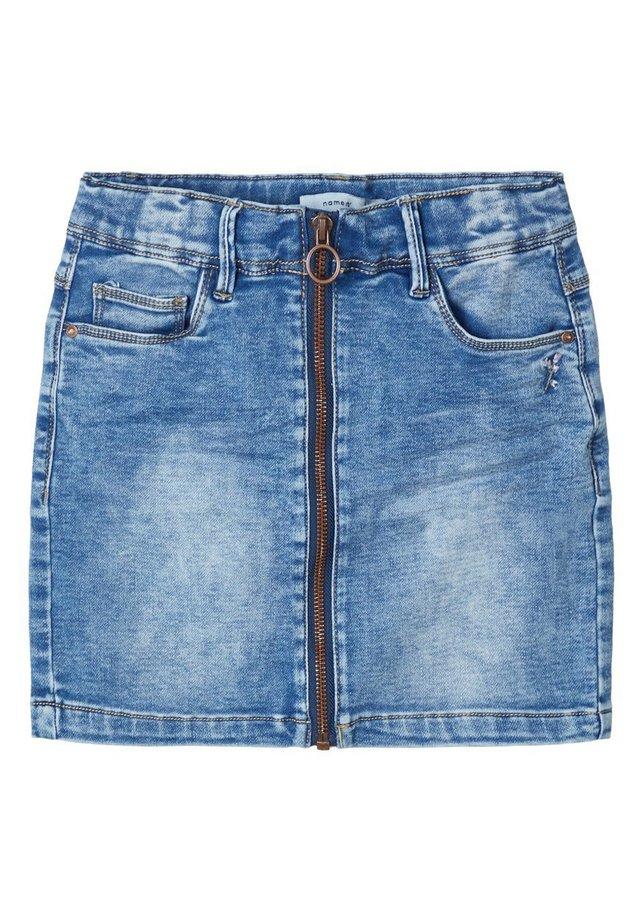 NAME IT JEANSROCK SLIM FIT SWEAT - Gonna di jeans - medium blue denim