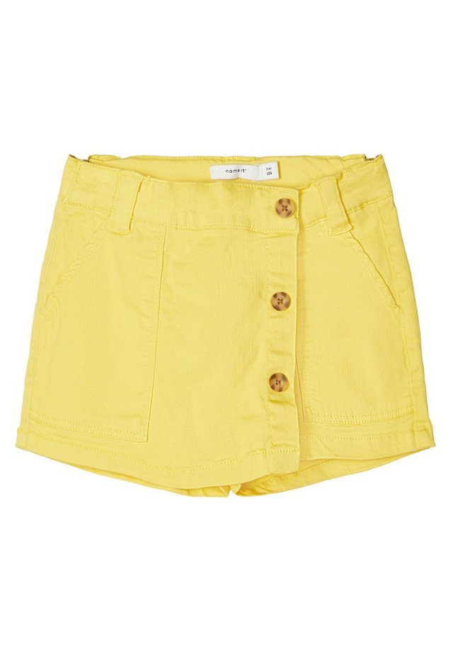 NAME IT SHORTS TWILLGEWEBE BAUMWOLL - Shorts - aspen gold