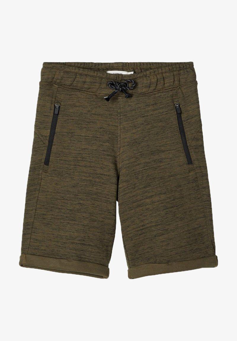 Name it - SWEATSHORTS LANGE - Shorts - ivy green