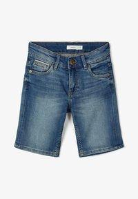 Name it - SLIM FIT - Jeansshort - medium blue denim - 1