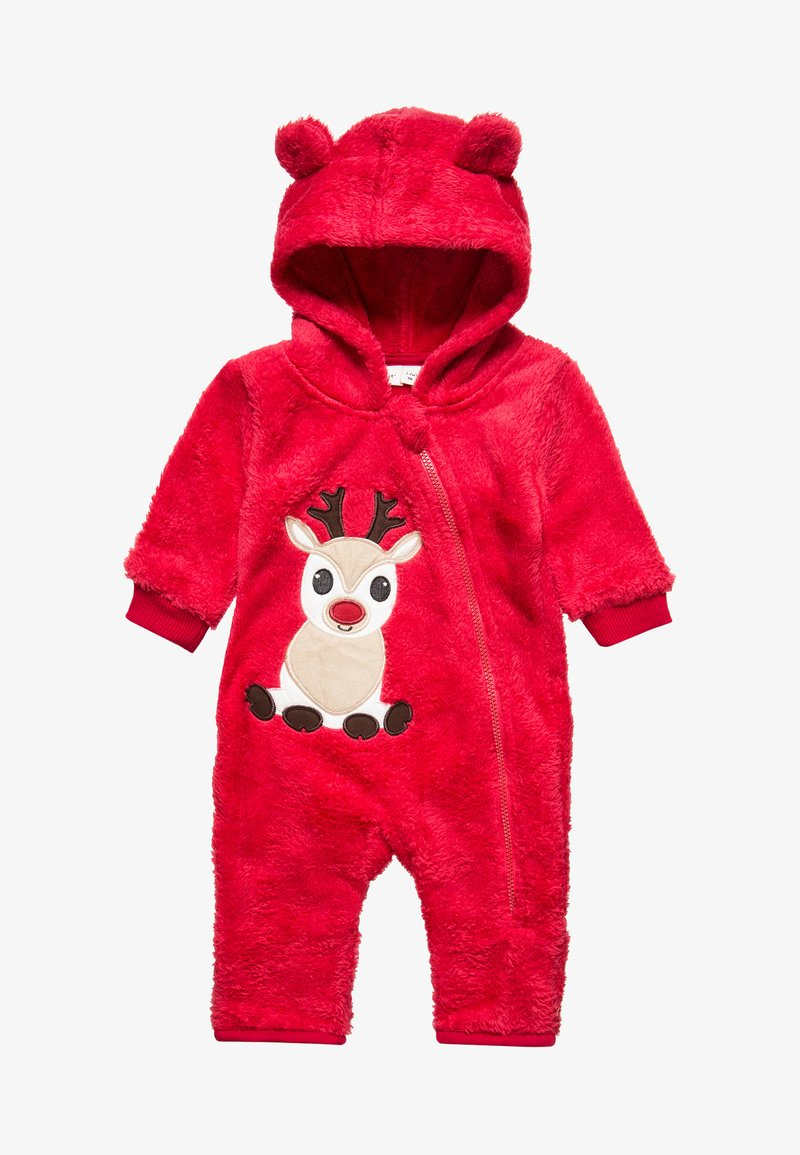 Name it - NBNRUDO ONEPIECE FEET XMAS BABY - Jumpsuit - jester red