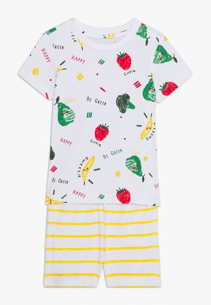 NBNUTTEHE SHORTS SET - Camiseta estampada - bright white