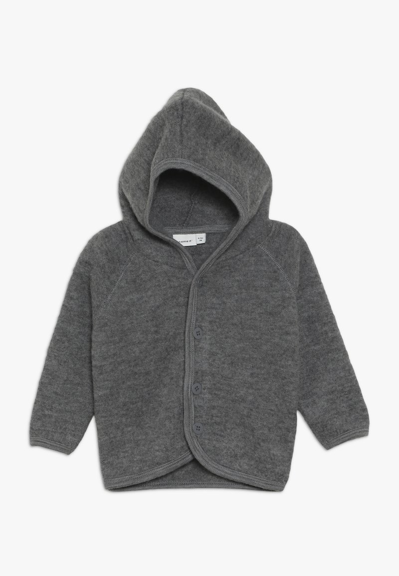 Name it - NBMWMINO CARD - Chaqueta de punto - dark grey melange